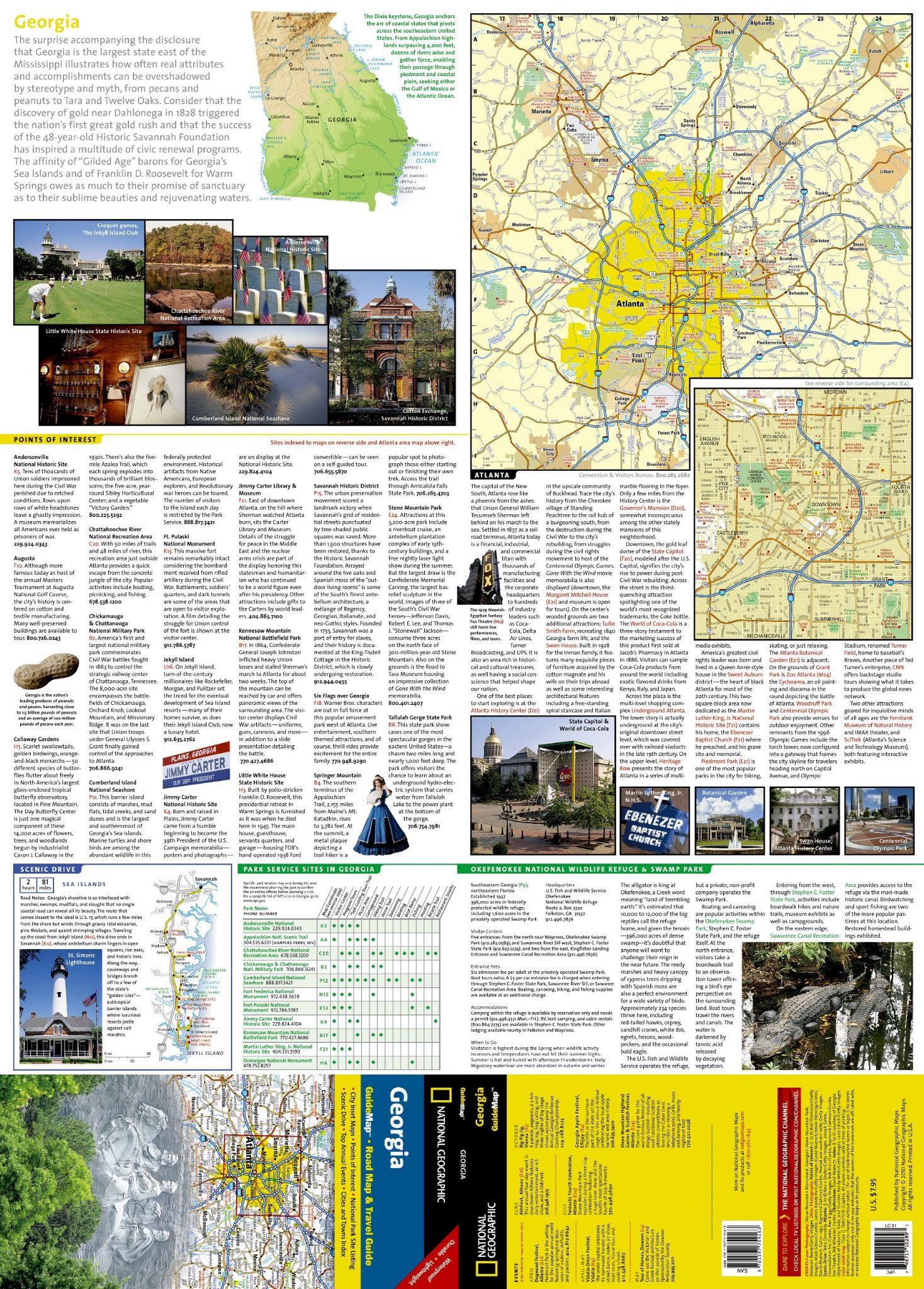 State Of Georgia Road Map.Georgia Road Map Travel Guide Gm18